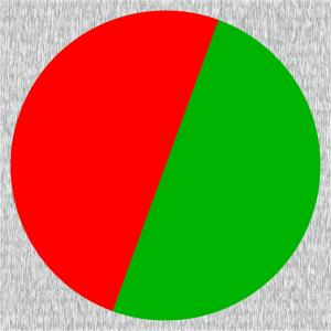 Rot-Grün umschaltbare vollflächige Signalfarben